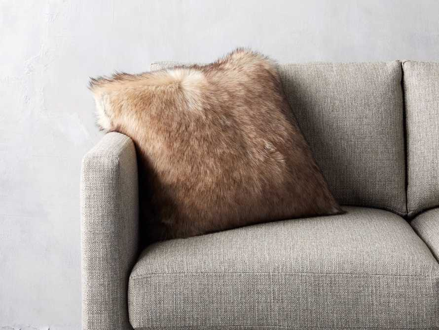 Taupe Faux Fur Pillow