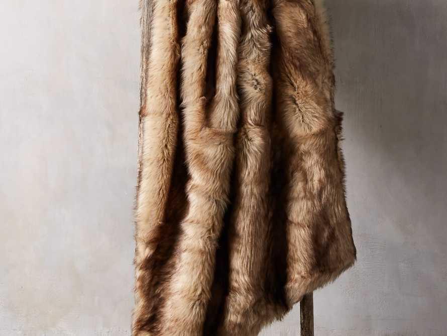 Taupe Faux Fur Throw