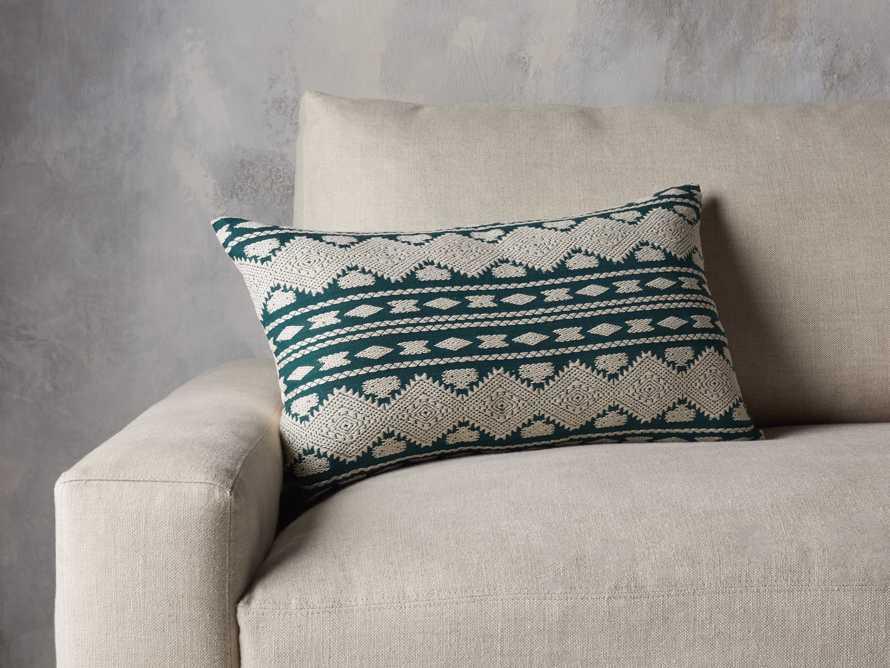 Green Geo Lumbar Pillow Cover, slide 4 of 5
