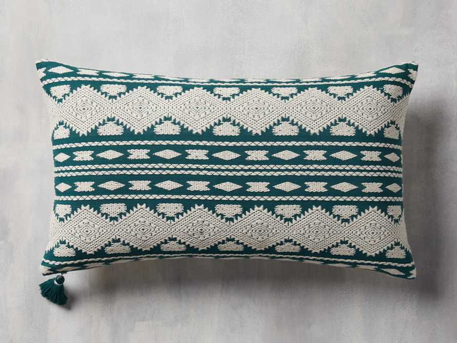 Green Geo Lumbar Pillow Cover, slide 1 of 5
