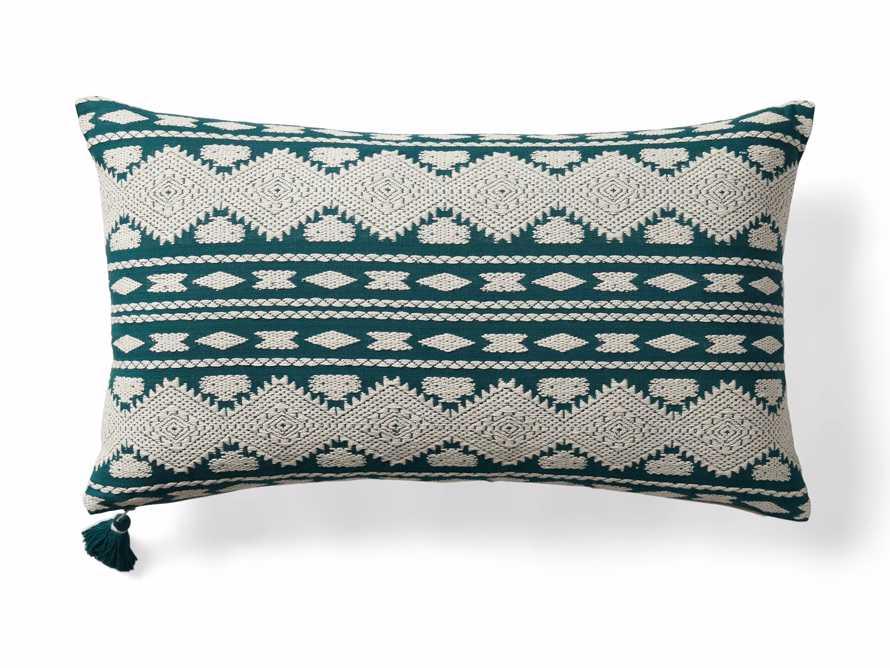 Green Geo Lumbar Pillow Cover, slide 5 of 5
