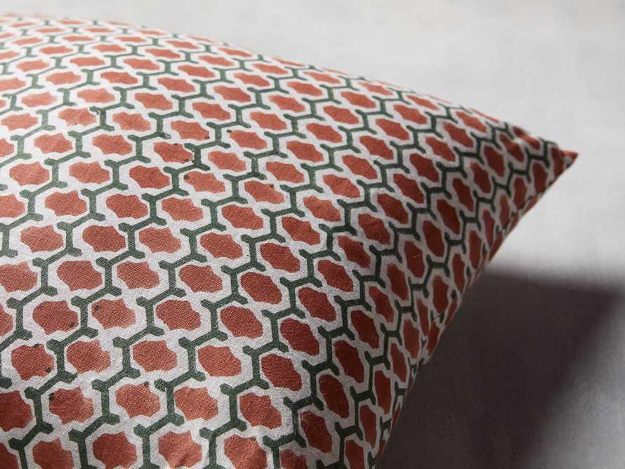 "Geo Block Print 20"" Pillow in Jade, slide 2 of 4"