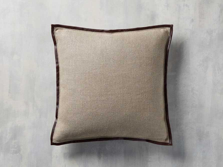 Linen Faux Leather Trim in Chocolate Cover Only
