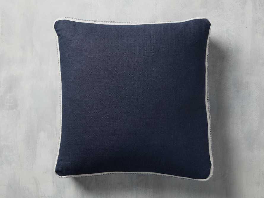 Lanai Gusseted Pillow in Navy, slide 3 of 4