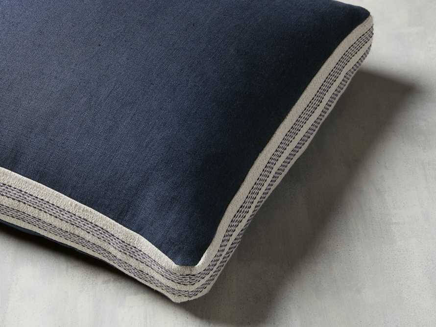 Lanai Gusseted Pillow in Navy, slide 2 of 4