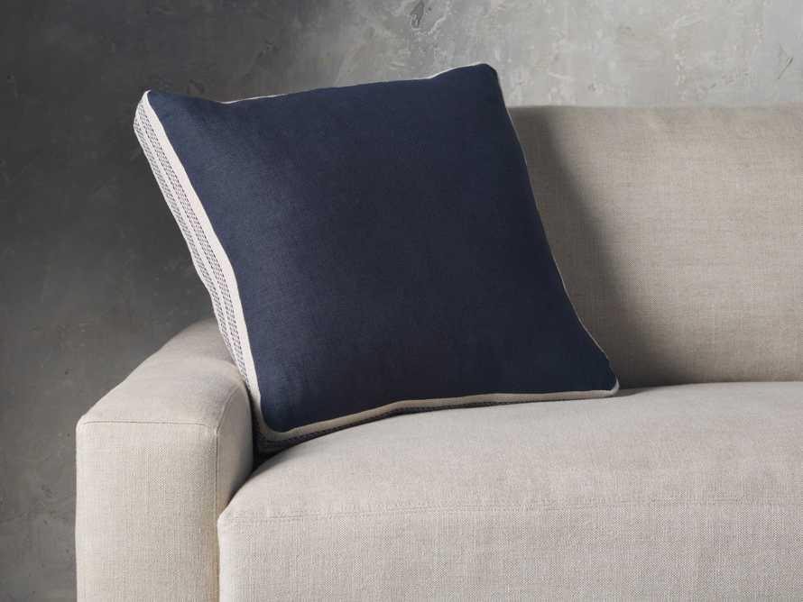 Lanai Gusseted Pillow in Navy, slide 1 of 4