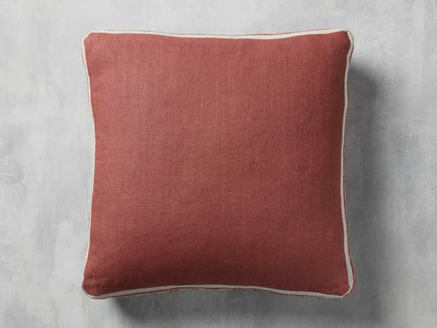 Lanai Gusseted Pillow in Rust, slide 2 of 3