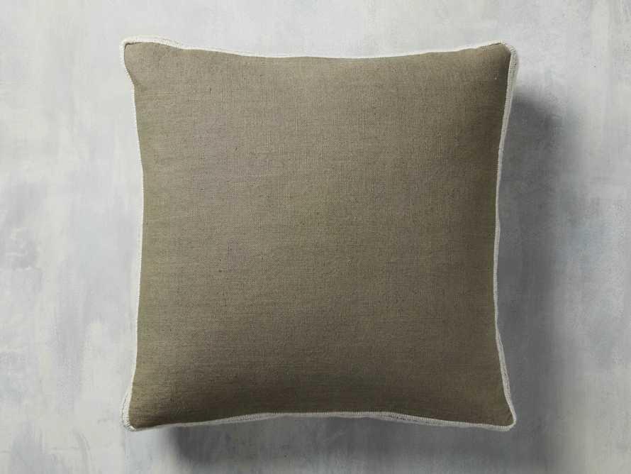 Lanai Gusseted Pillow in Sage, slide 1 of 4