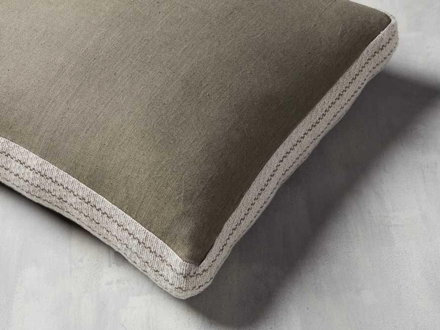 Lanai Gusseted Pillow in Sage, slide 2 of 4