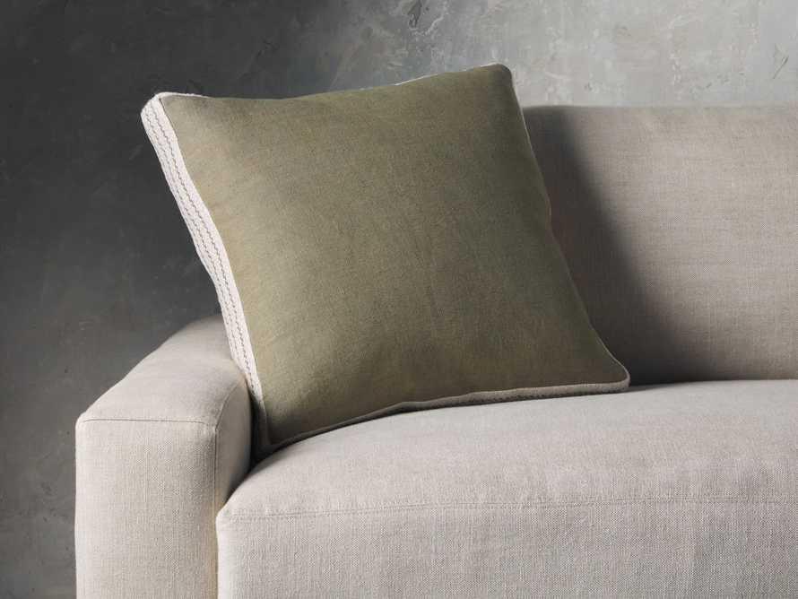 Lanai Gusseted Pillow in Sage, slide 3 of 4