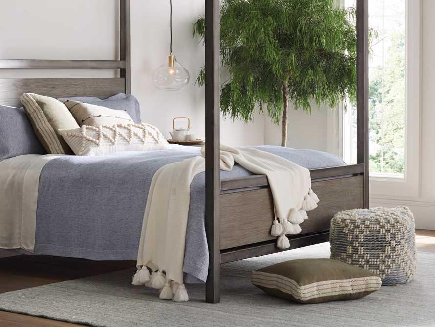 Lanai Gusseted Pillow in Sage, slide 4 of 4