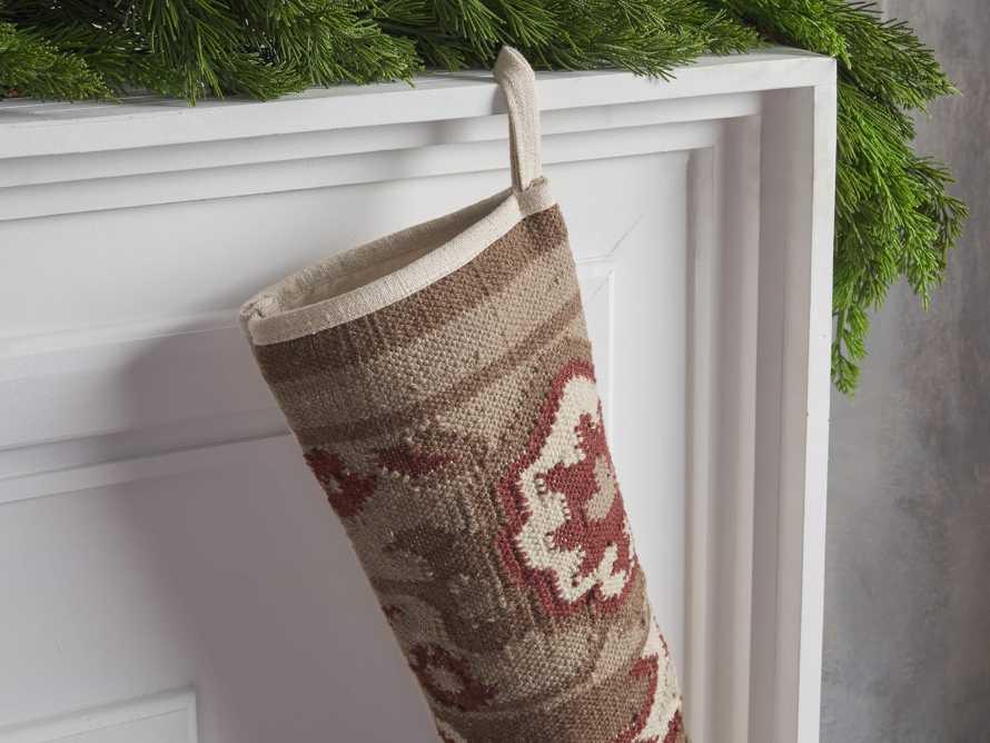 Taupe Flatweave Stocking, slide 2 of 3