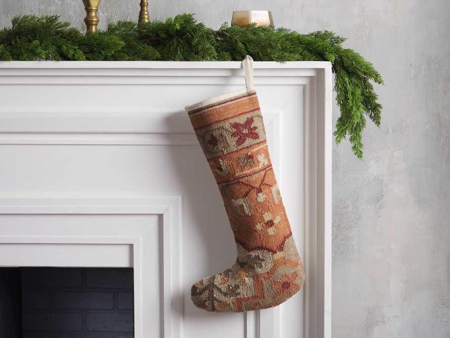 Terracotta Flatweave Stocking, slide 1 of 3
