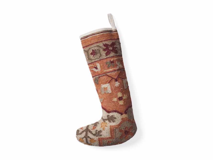 Terracotta Flatweave Stocking, slide 3 of 3