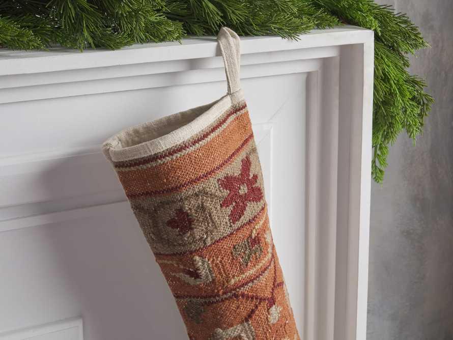 Terracotta Flatweave Stocking, slide 2 of 3