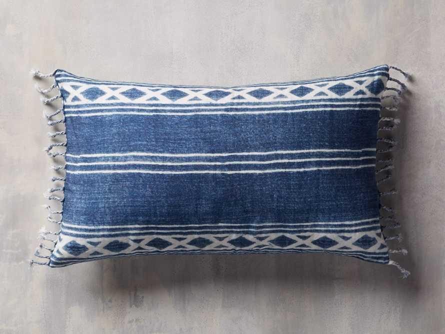 Indigo Batik Linen Pillow