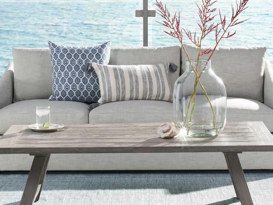 Ingleside Striped Outdoor Lumbar Pillow in Blue, slide 3 of 7