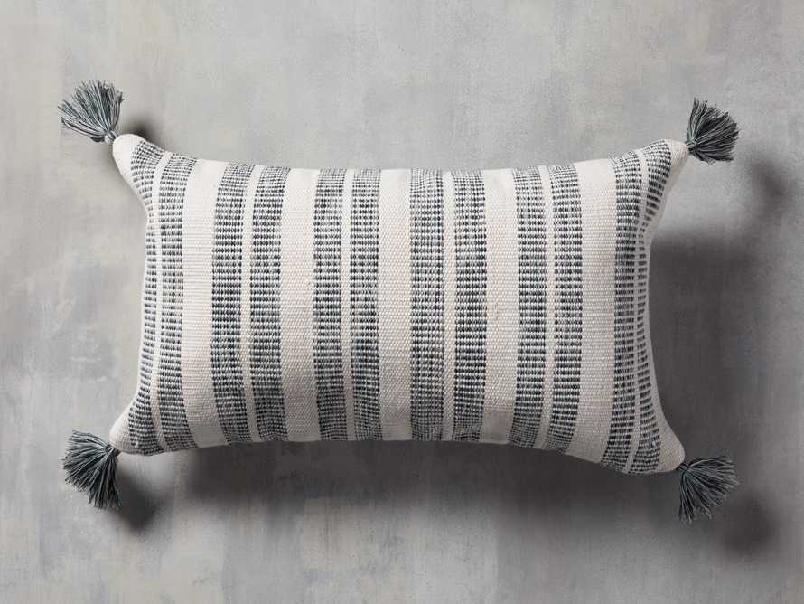 Ingleside Striped Outdoor Lumbar Pillow in Blue, slide 1 of 7