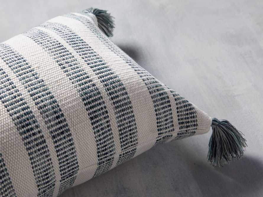 Ingleside Striped Outdoor Lumbar Pillow in Blue, slide 2 of 7