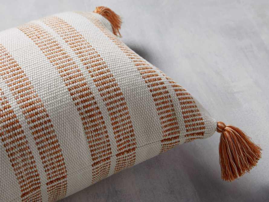 Ingleside Striped Outdoor Lumbar Pillow in Terracotta, slide 2 of 5