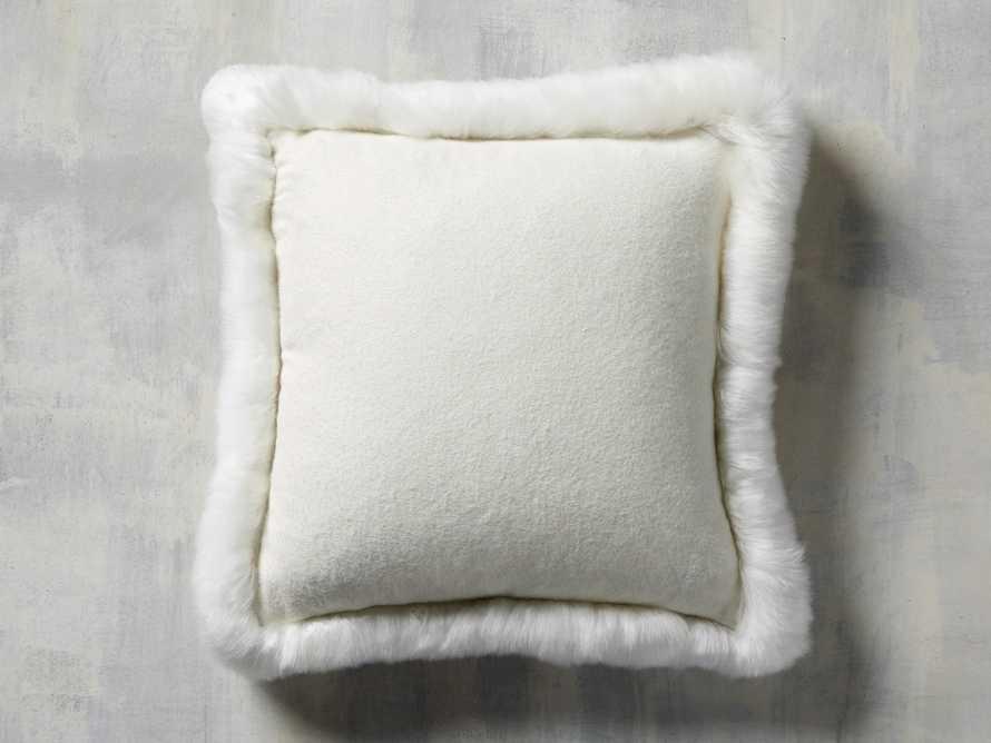 Alpaca Border Pillow in Ivory, slide 3 of 3