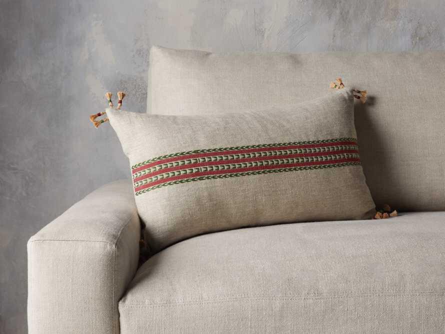 Natural Jute Stripe Lumbar Pillow Cover, slide 4 of 5
