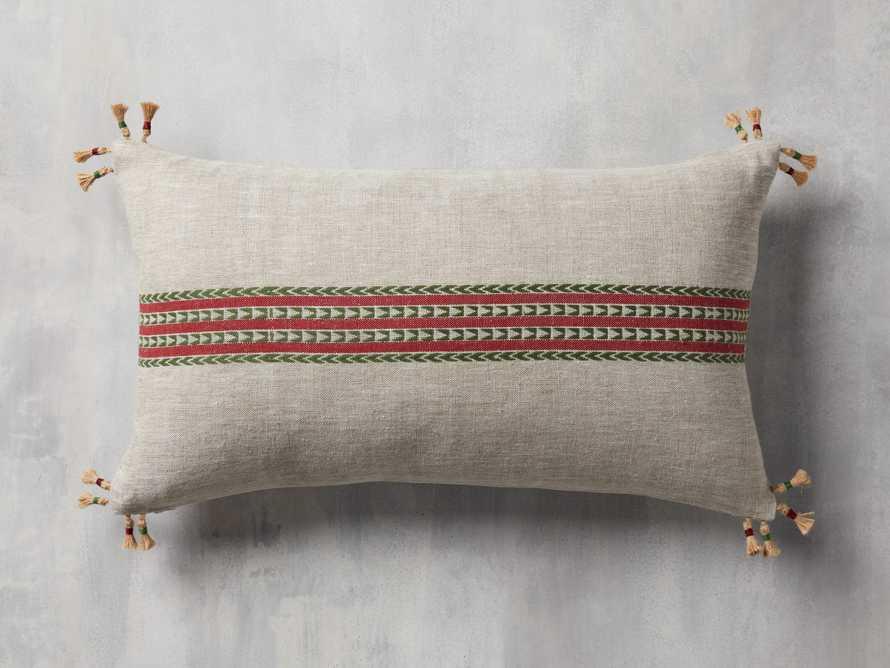 Natural Jute Stripe Lumbar Pillow Cover, slide 1 of 5