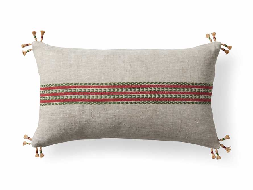 Natural Jute Stripe Lumbar Pillow Cover, slide 5 of 5