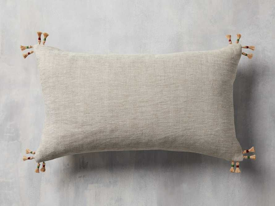 Natural Jute Stripe Lumbar Pillow Cover, slide 2 of 5