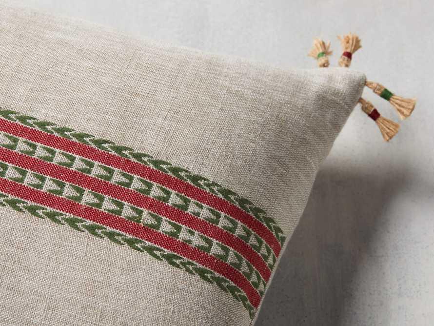 Natural Jute Stripe Lumbar Pillow Cover, slide 3 of 5