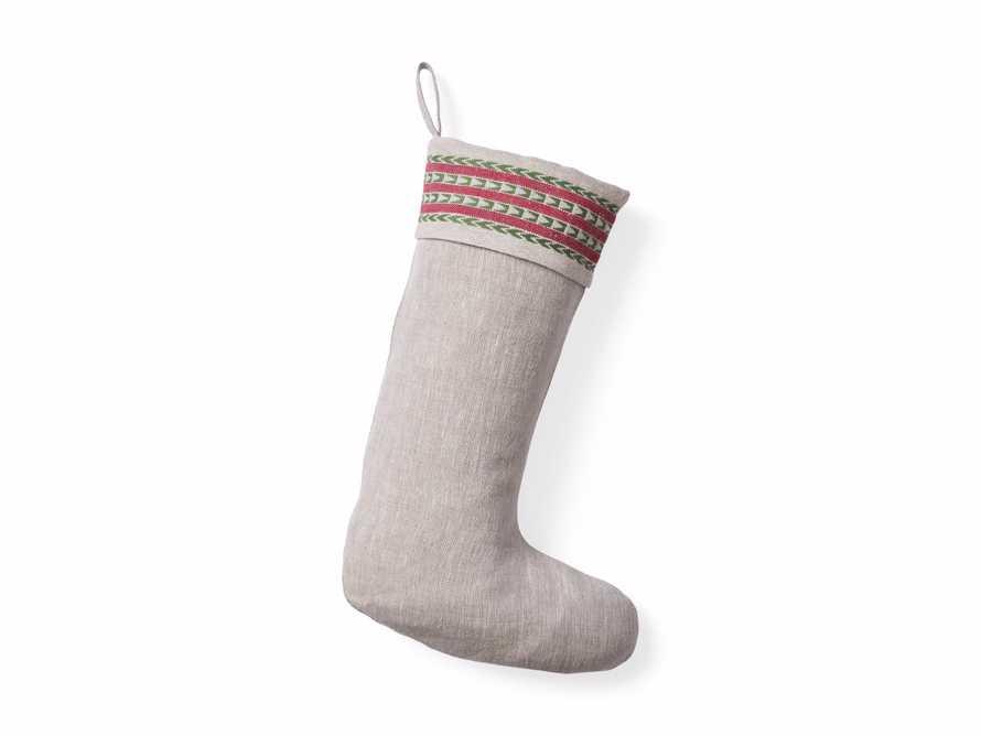 Natural Jute Stripe Stocking, slide 4 of 4