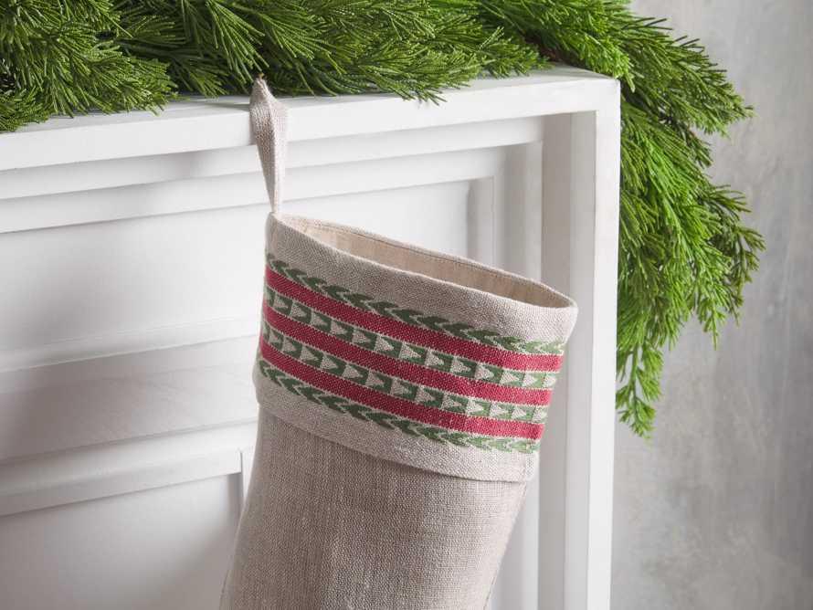 Natural Jute Stripe Stocking, slide 2 of 4