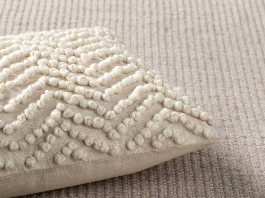 KNOTTED CHEVRON LUMBAR PILLOW COVER, slide 3 of 4