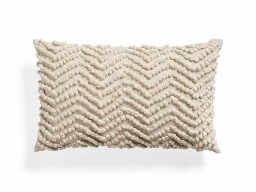 KNOTTED CHEVRON LUMBAR PILLOW COVER, slide 1 of 4