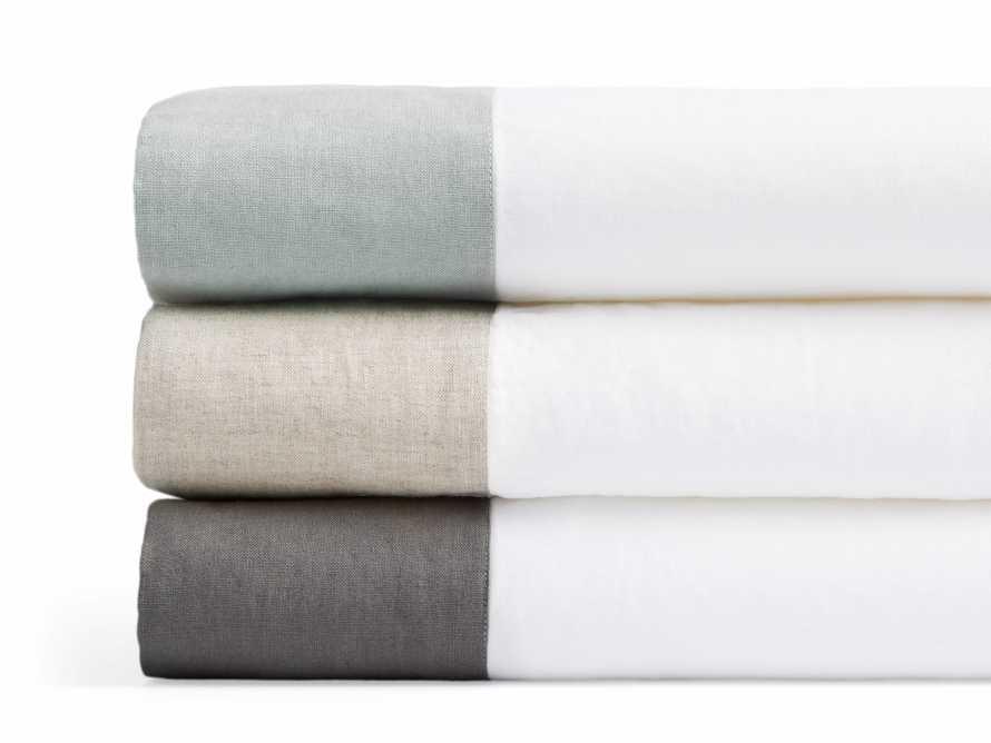 Standard Italian Linen Border Pillow Case in Charcoal, slide 3 of 3