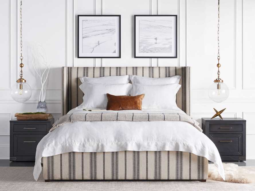 Standard Italian Linen Hemstitch Pillow Case in White, slide 8 of 9