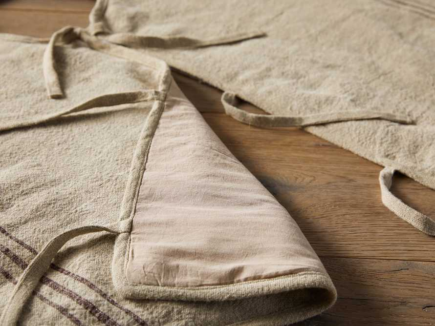 Stripped Linen Tree Skirt