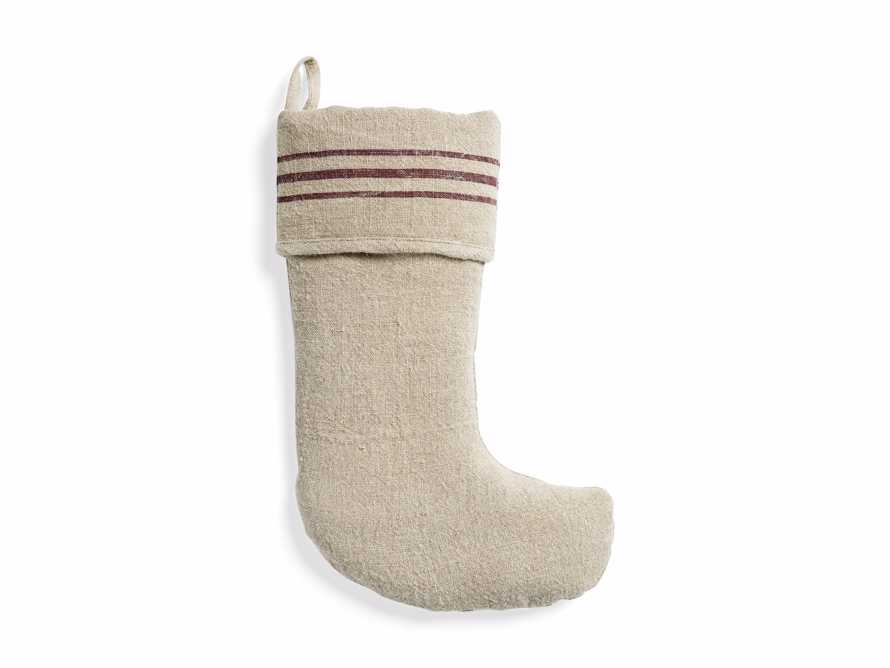 Stripped Linen Stocking