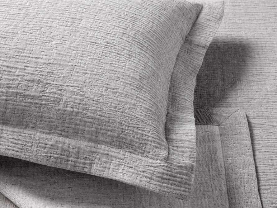 Matelasse Standard Sham in Linen
