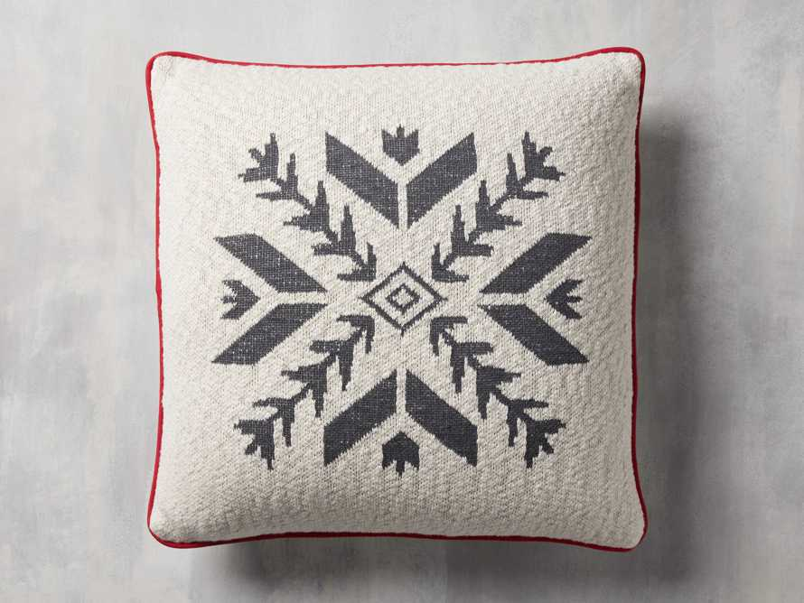 Ivory Snowflake Pillow Cover, slide 1 of 4