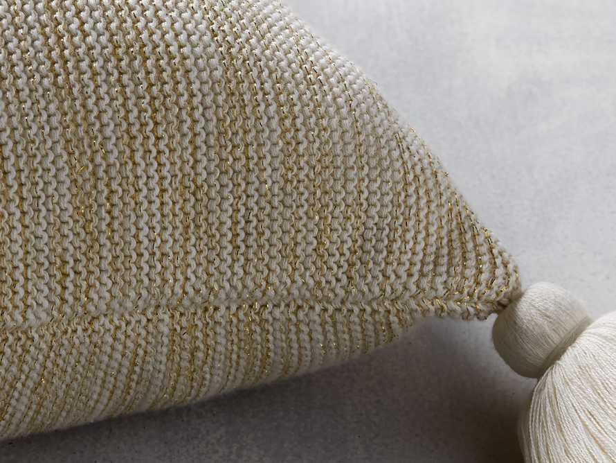 Metallic Knit Pillow in Gold