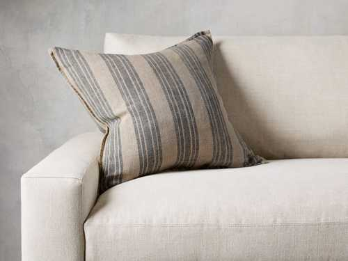 View the French Stripe Pillow in Natural and Indigo - Come take a peek at more Arhaus French Vintage Timeless Furniture, Decor and Lighting on Hello Lovely Studio.
