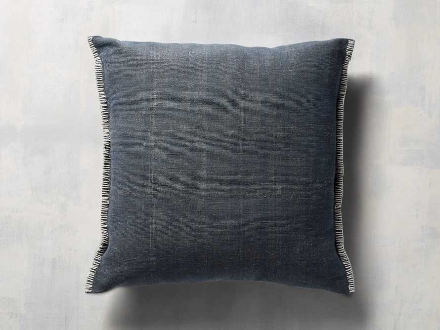 "Navy 28"" Floor Pillow with Ivory Stitch, slide 2 of 5"