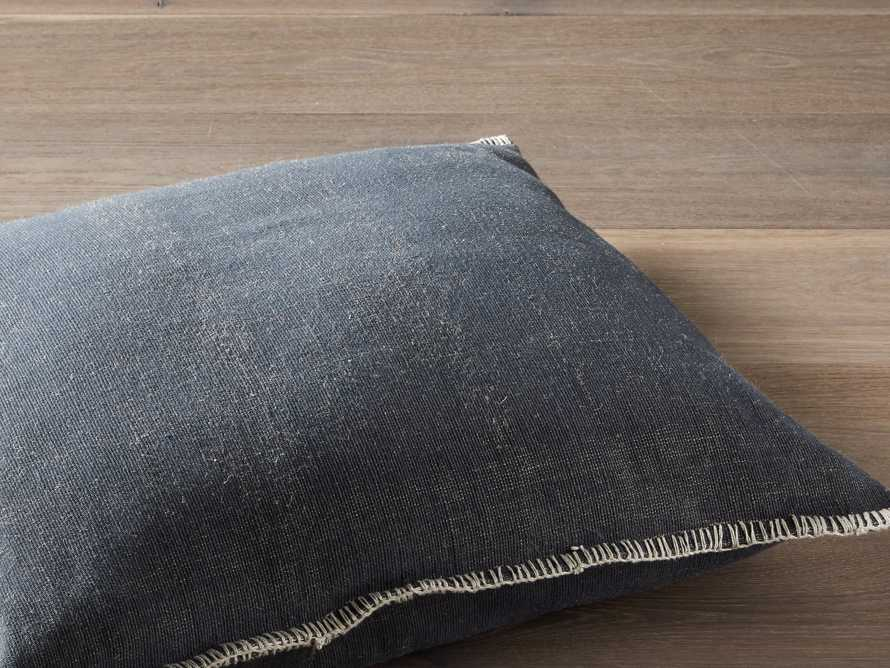 "Navy 28"" Floor Pillow with Ivory Stitch, slide 3 of 5"