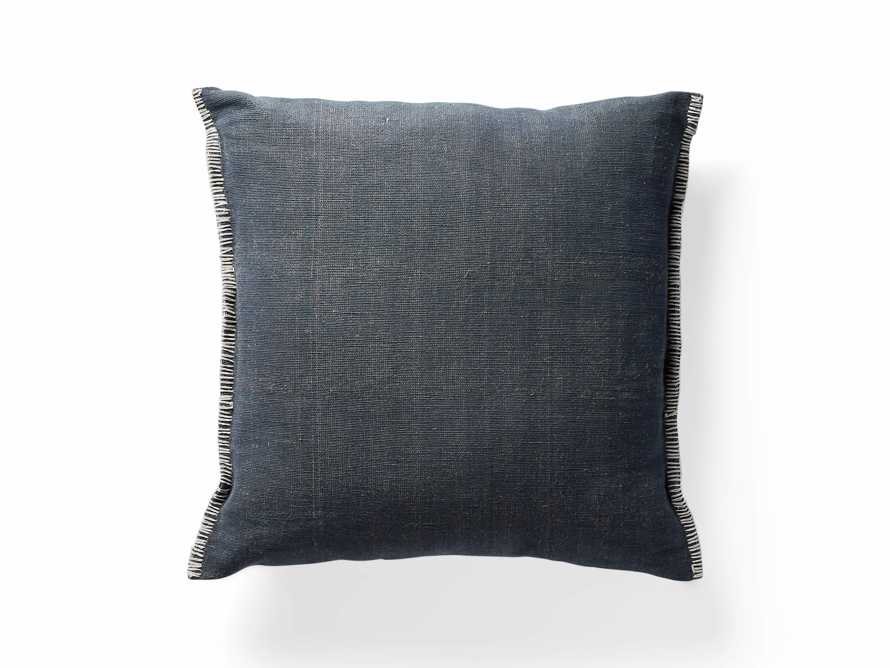 "Navy 28"" Floor Pillow with Ivory Stitch, slide 4 of 5"
