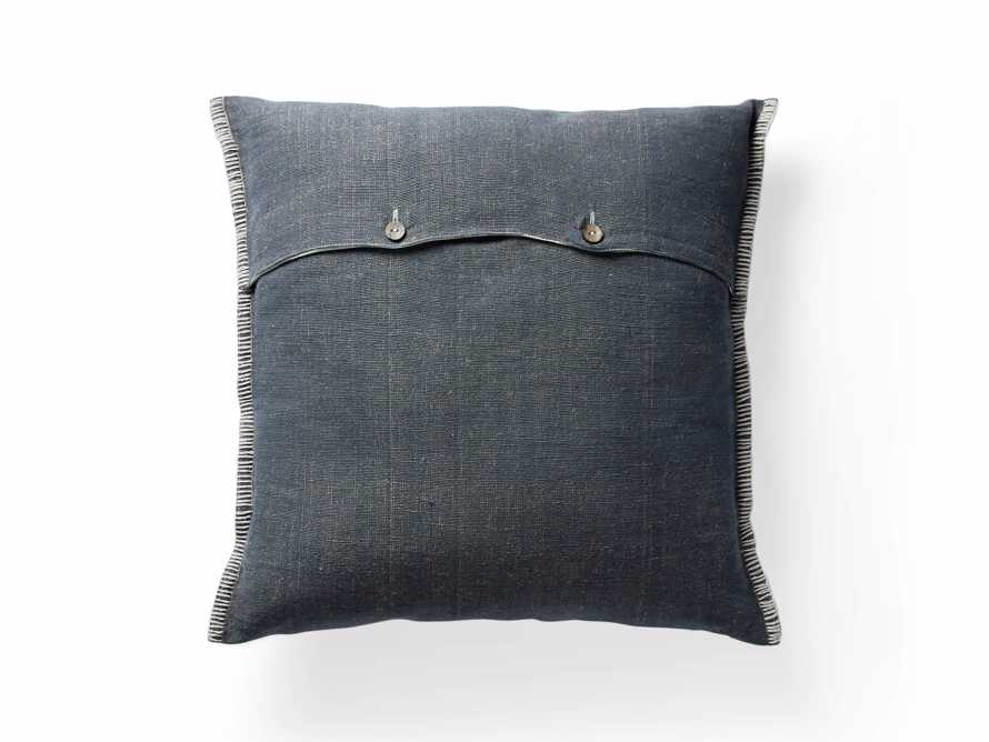 "Navy 28"" Floor Pillow with Ivory Stitch, slide 5 of 5"