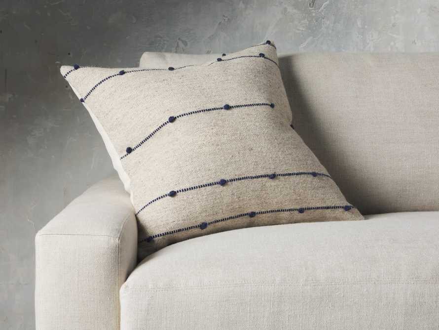 Nubby Stripe Pillow in Natural, slide 1 of 5