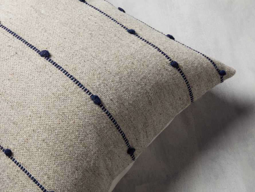 Nubby Stripe Pillow in Natural, slide 2 of 5
