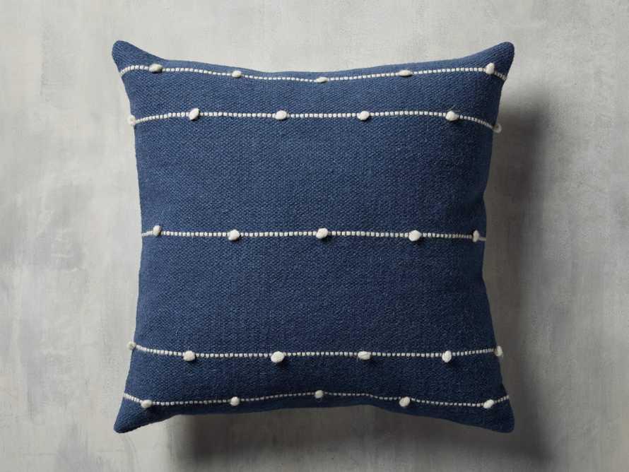 Nubby Stripe Pillow in Navy, slide 3 of 5