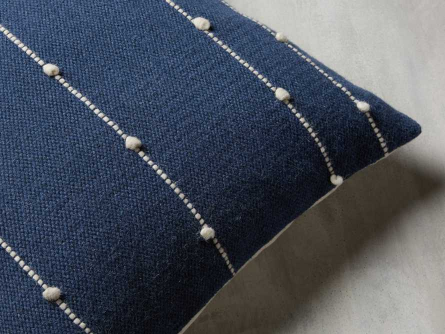 Nubby Stripe Pillow in Navy, slide 2 of 5